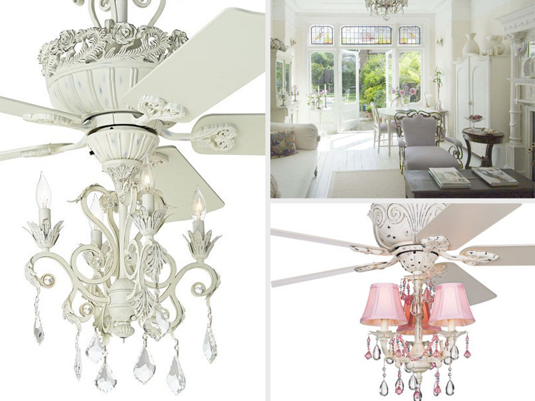 5 unique shabby chic ceiling fan chandeliers advanced ceiling systems aloadofball Choice Image