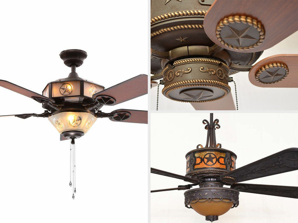 5 Texas Star Ceiling Fans To Complete Your Western Style Decor Advanced Systems