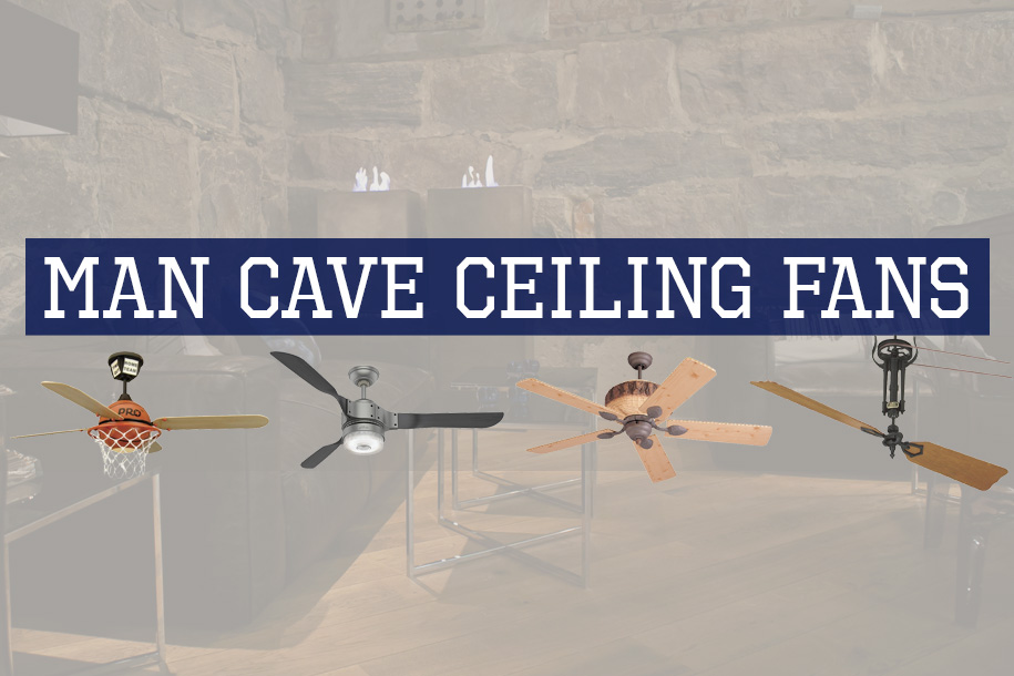 Man Cave Ceiling Fans : Rustic industrial ceiling fans with cage lights you ll