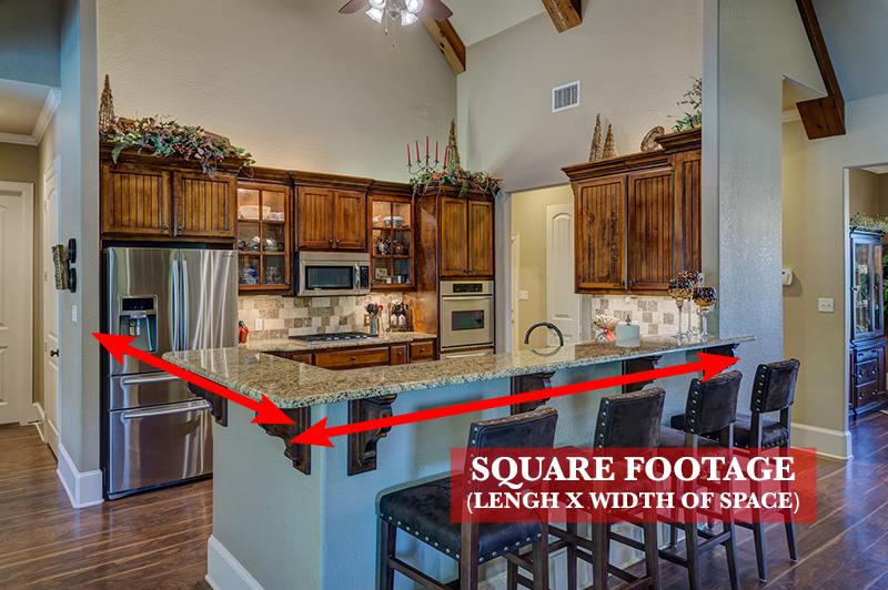 Finding the square footage of a kitchen - First step in finding the best kitchen ceiling fan