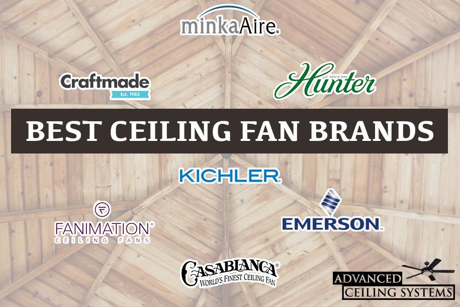 Ceiling fan manufacturers list