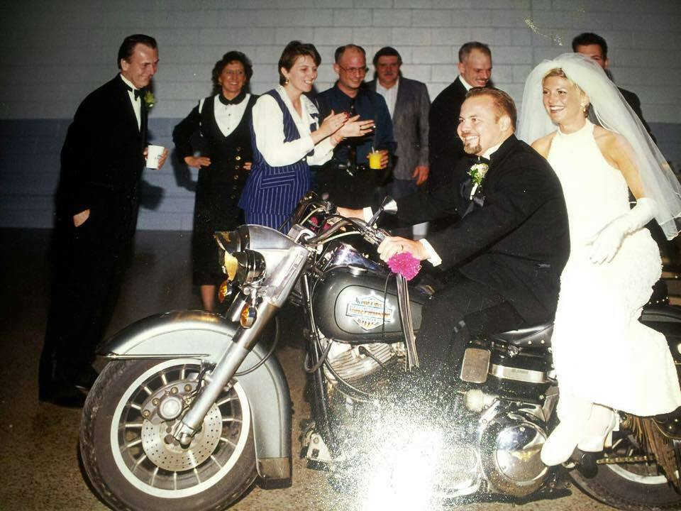 """We married, 5 years difference in age. We are wild ones! We rode into our wedding reception on a Harley!!I had 4 kids, he had never been married. He married ALL of us. We birthed 3 more kids and adopted 8. We have dealt with foreign and domestic governments, to make things """"right"""". We lived and navigated life in a third world country, where we didn't speak the language. We have battled stigma head on, we have led very public lives. NONE of that life prepared us for what we are living now."""