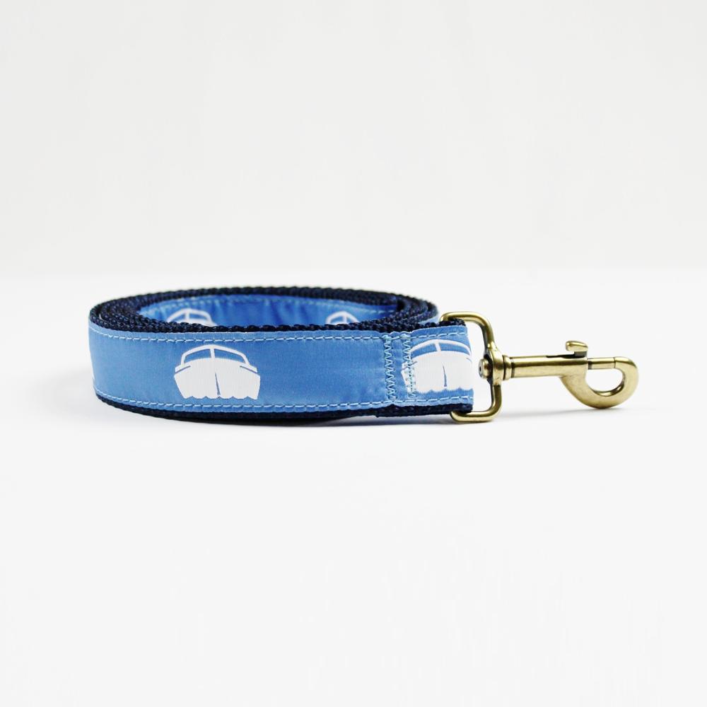 Dog Lead - Navy w/Blue $36