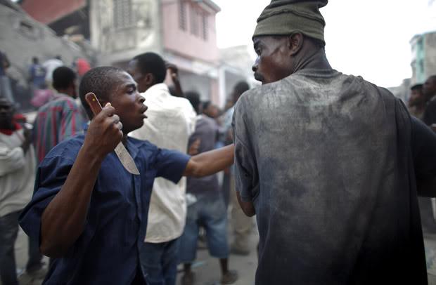Haitian looter.