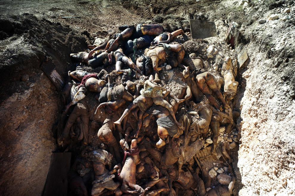 Haitian mass grave.