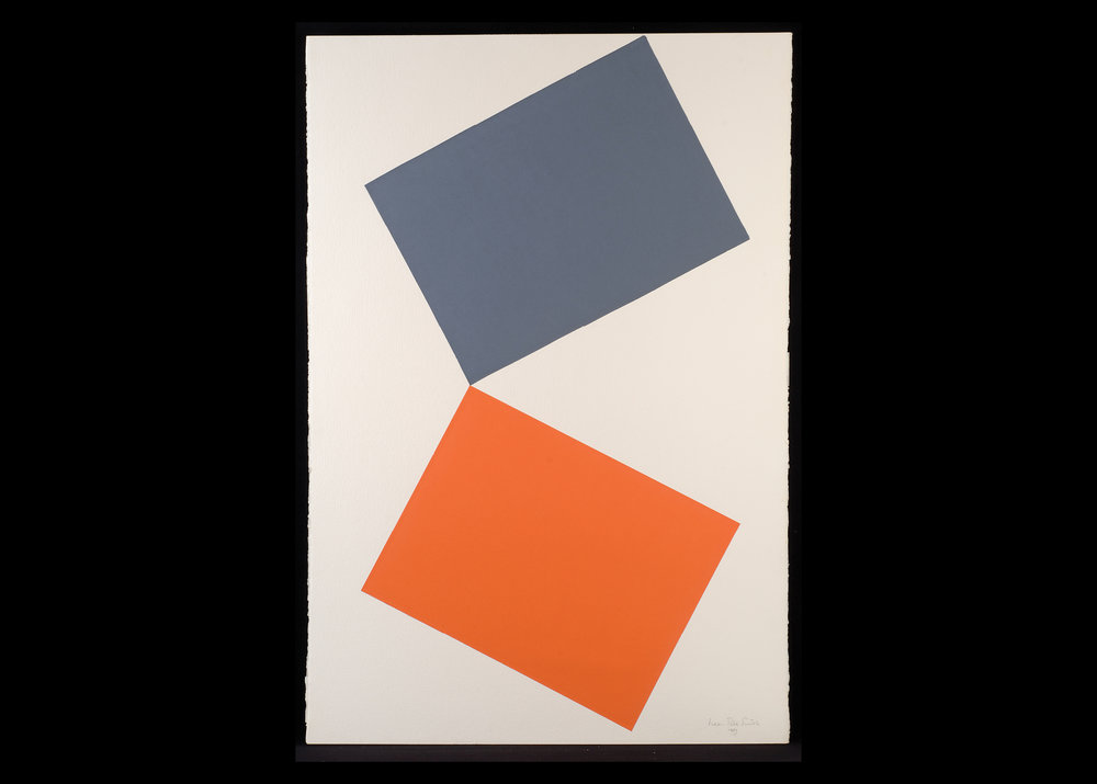 Leon Polk Smith (American, 1906-96) untitled, 1983 paper on paper, 59 7/8 x 40 in. Leon Polk Smith Foundation, 1983 D.023
