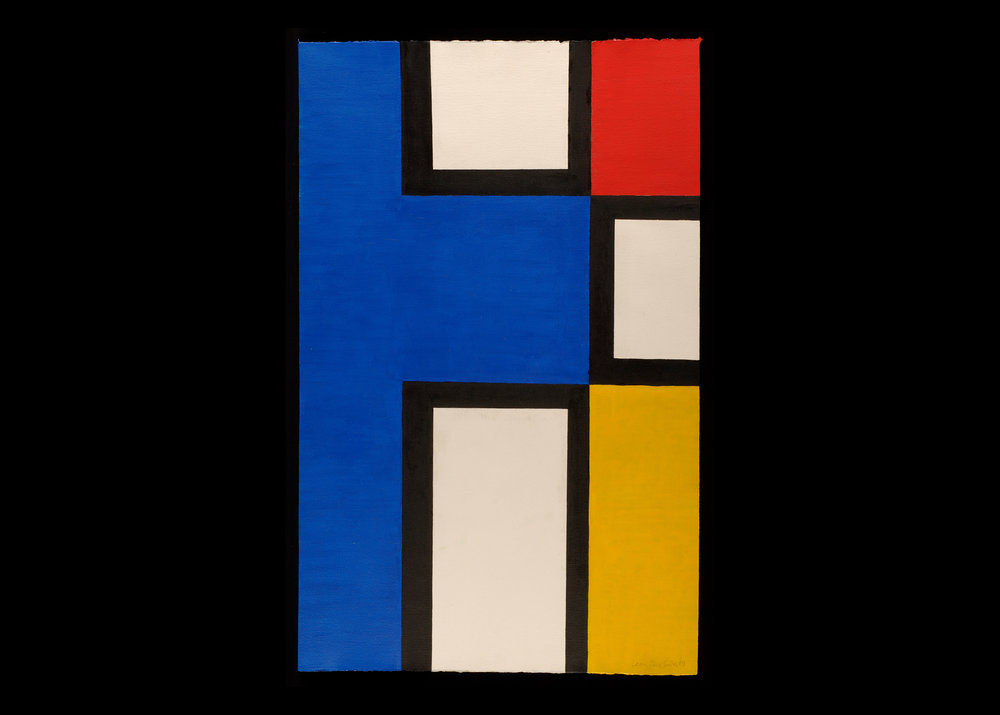 Leon Polk Smith (American, 1906-96) Untitled, 1949 Paint on paper 40 ¼ x 25 ½ in. Leon Polk Smith Foundation, 1949 D.004