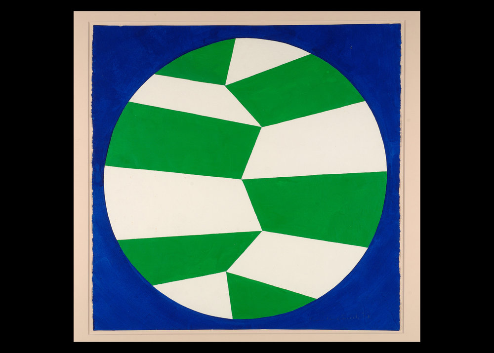 Leon Polk Smith (American, 1906-96) Untitled, 1958 Paint on paper 27 x 27 (dia.) Leon Polk Smith Foundation, 1958.D.111