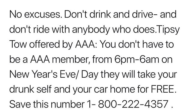 Happy New Years Eve from Jiveflash! 🥂 Please do not drink and drive tonight, risking both yours and others lives. AAA will take you and your car home for free! However, this is not offered nationwide. Please go to https://t.co/Hx5VANpFKL for a listing! Have fun tonight🎊