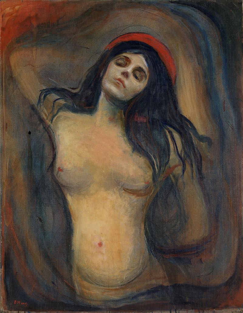 Edvard Munch. Version from  National Gallery of Norway , Oslo. 1894–95. 91 cm × 70.5 cm (36 in × 27.8 in).