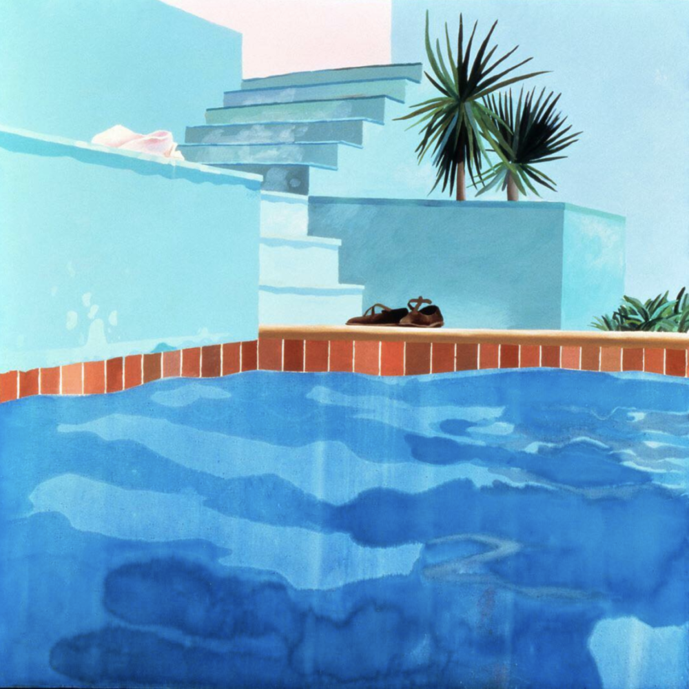 Hockney, David. Pool and Steps (Le Nid Du Duc). 1971. Metropolitan Museum of Art, New York City, New York.