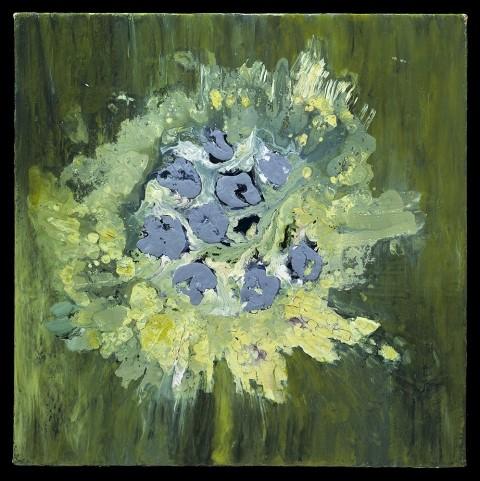 "RETURN FROM NAOSHIMA 2002 Acrylic On Canvas 20""H x 20""W"