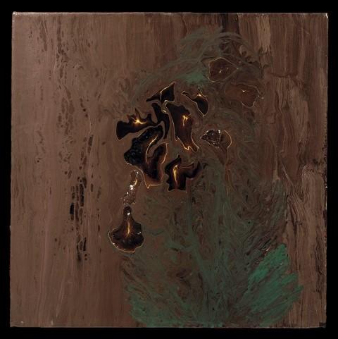 """DRAGON BREATH 2002 Acrylic On Canvas 20""""H x 20""""W"""