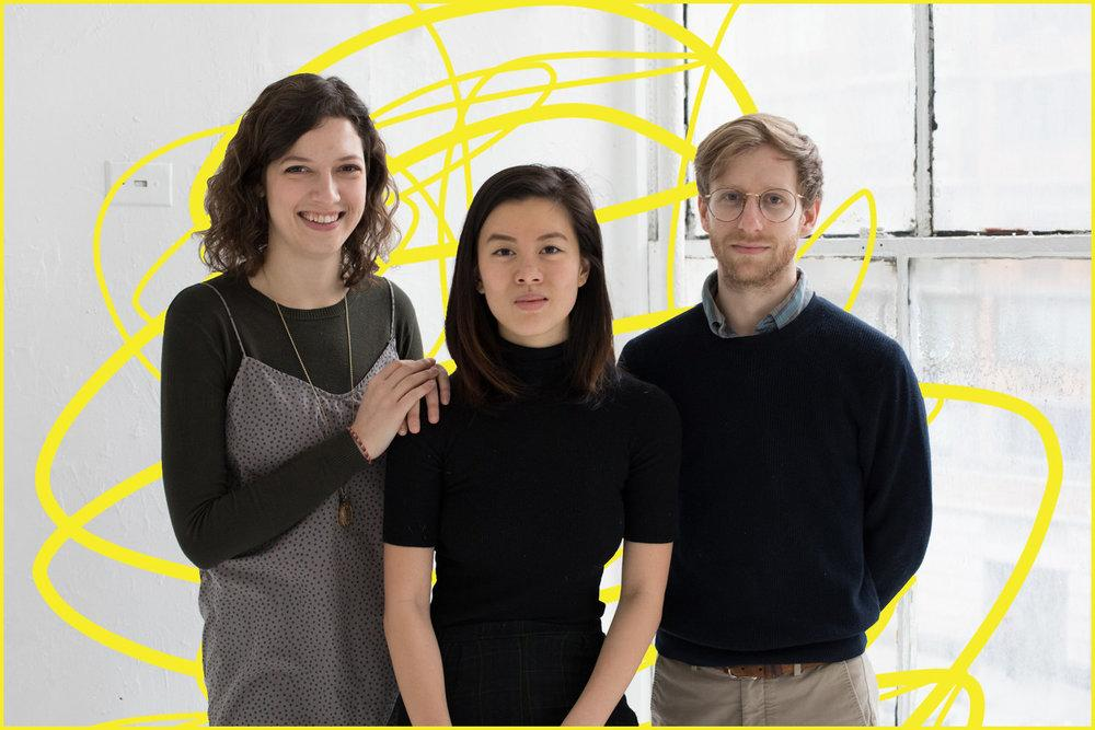 Producer Catherine Woodard, playwright Stefani Kuo, and director Theo Maltz.