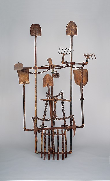 "Joe Minter, ""400 Years of Free Labor"" (circa 1995), welded found metal, 8 ft. 9 inches x 60 inches x 54 inches."