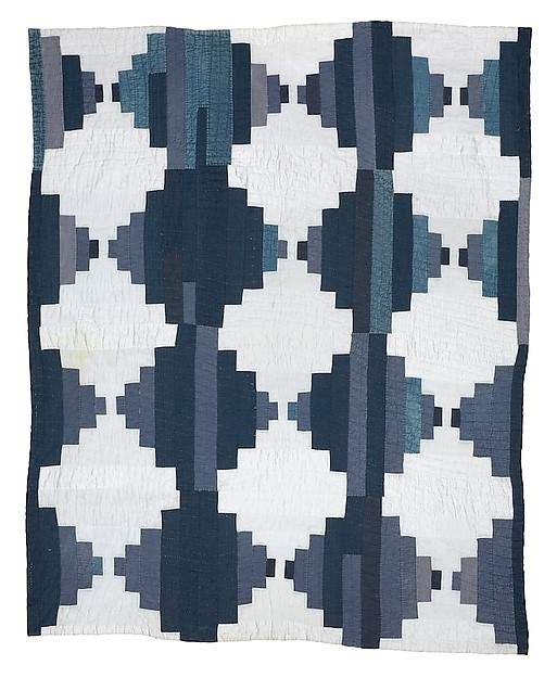 "Linda Diane Bennett, ""Bricklayer quilt"" (circa 1970), top and back: cotton-polyester blend, 80.5 x 64.5 inches."