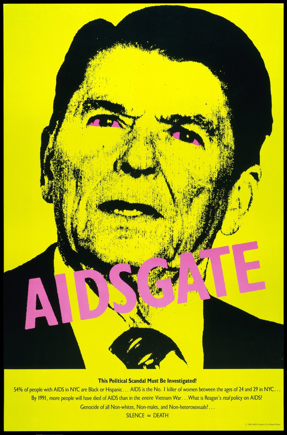 AIDSGATE, 1987, from the Silence = Death Project