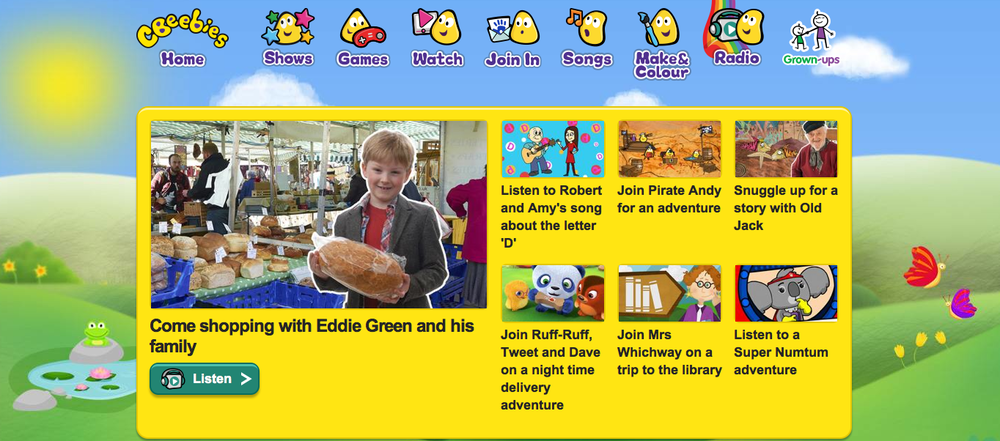 Episodes of Eddie Green and Friends are available to download for a week and to stream afterwards.