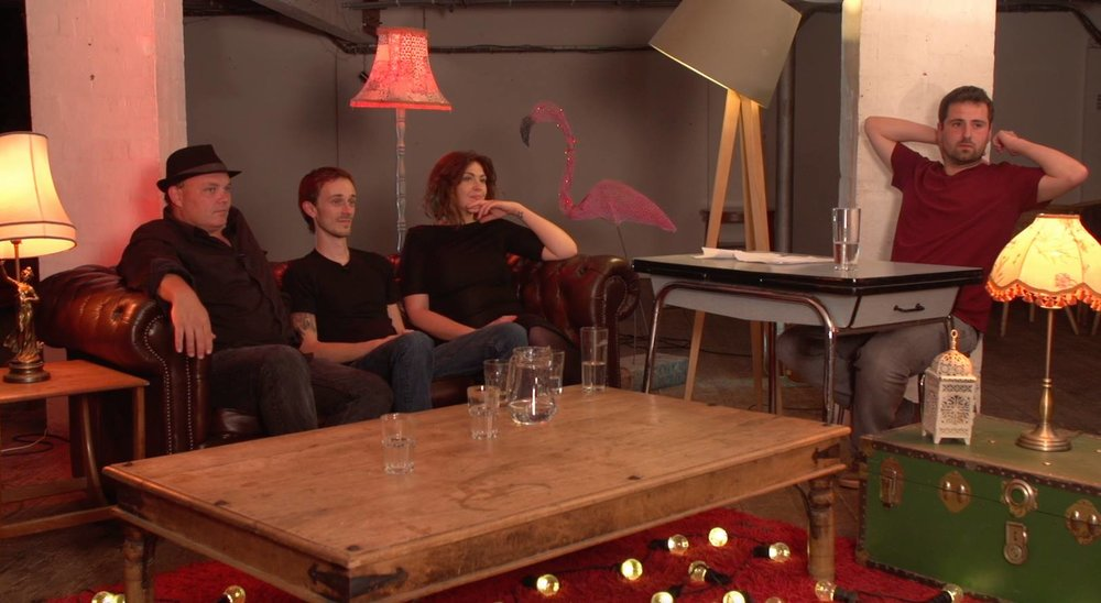 A still from our taster video shoot for a BBC Three pitch - don't worry, that is me sat in as presenter but the proposal does say we'll get a 'proper' host...