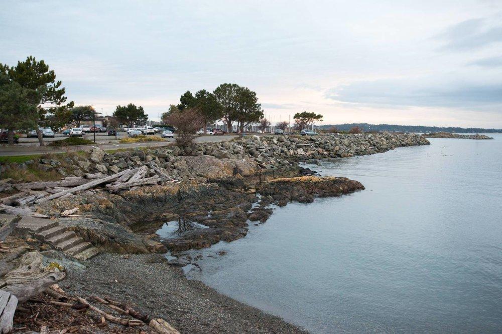 Turkey Head, adjacent to Oak Bay Marina.