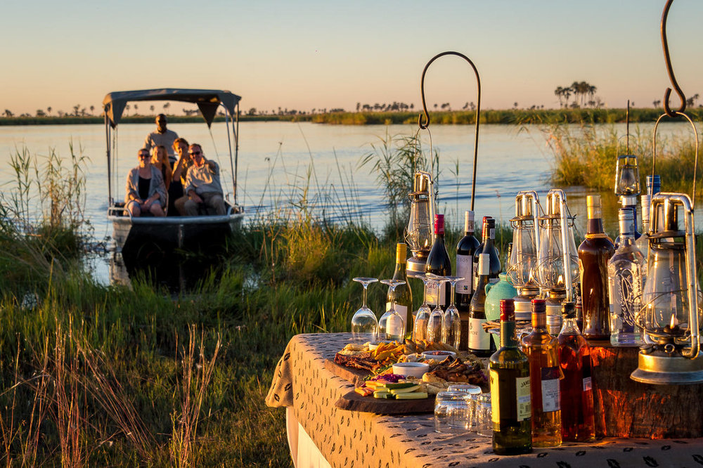 African Footprint Safaris - Boat sundowner.jpg