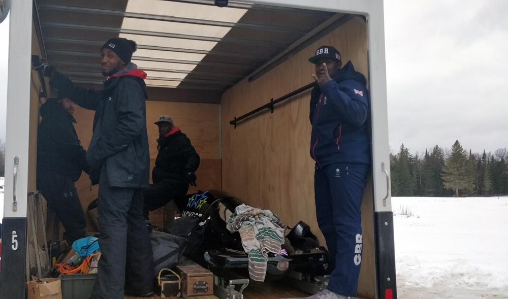 Commuting with the British Bobsleigh team!