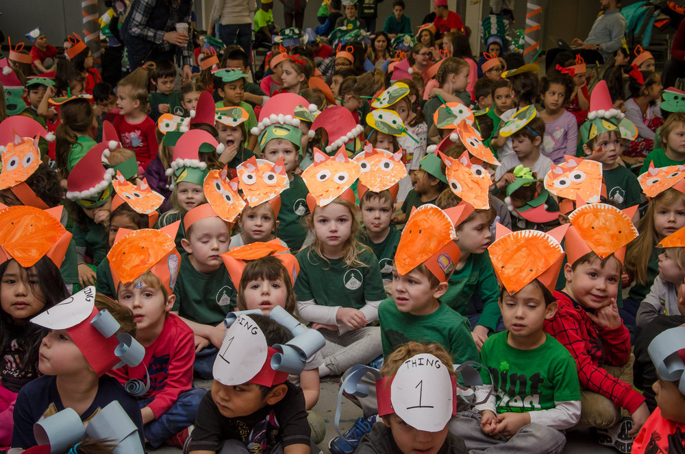 Our Suess readers with their Suess hats!