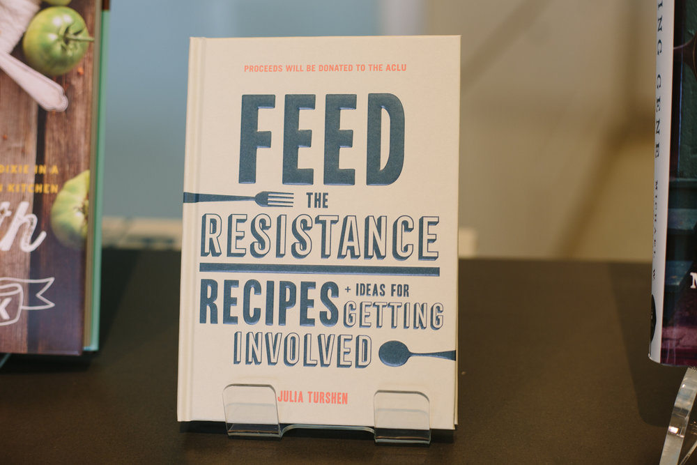 Feed the Resistance: Recipes + Ideas for Getting Involved  is available wherever books are sold. Support your local bookstore! Also available online from:  Chronicle Books  /  IndieBound  /  Barnes & Noble  /  Amazon .