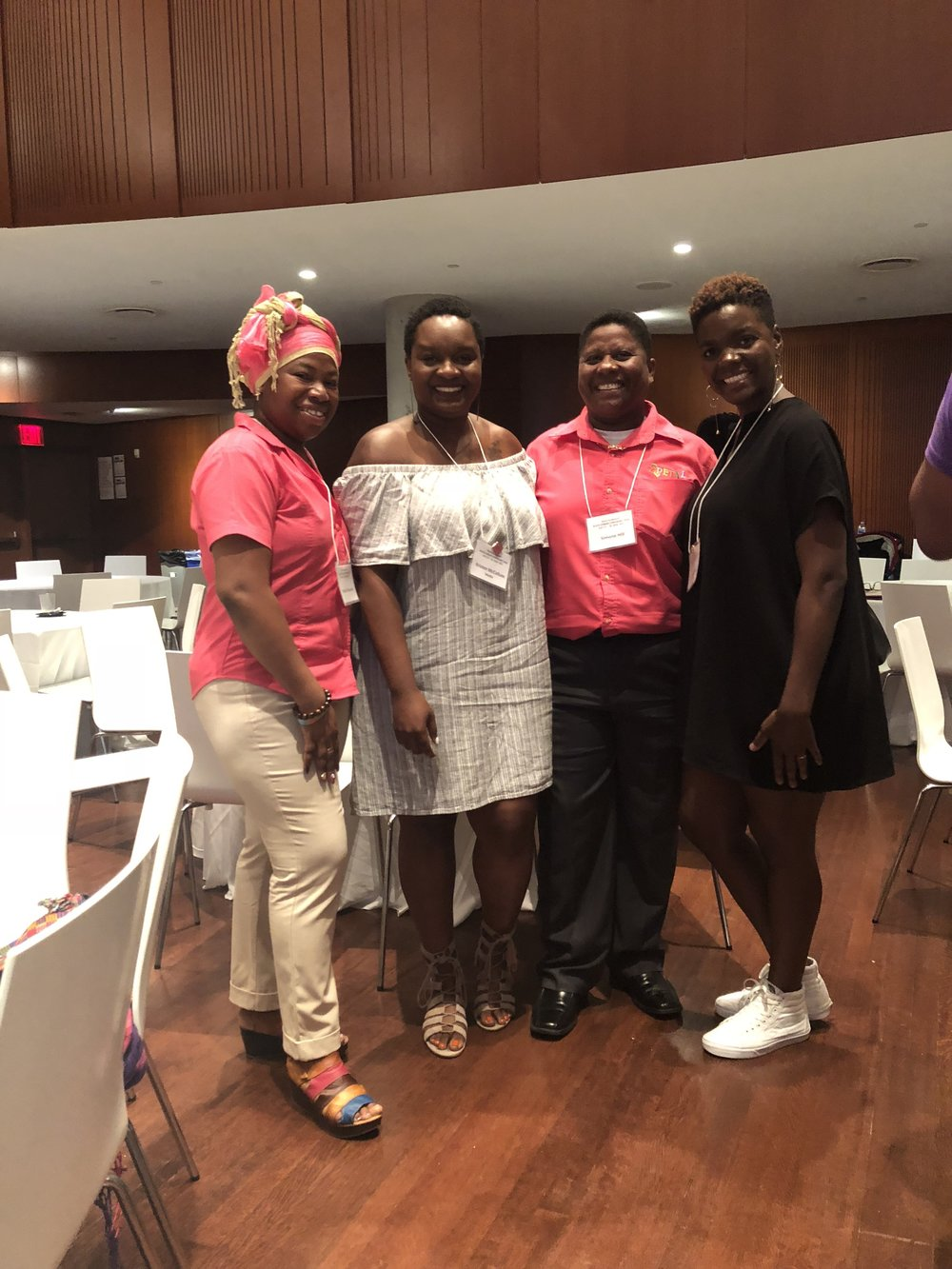 We were so excited to meet Simone Hill & Ifáṣínà Efunyemi all the way from Belize representing  Promoting Empowerment Through Awareness For Les/Bi Women - PETAL