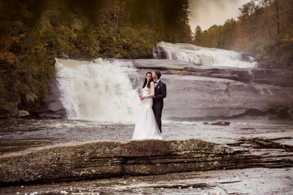 Triple+Falls+Pisgah+Asheville+Elopement+Wedding