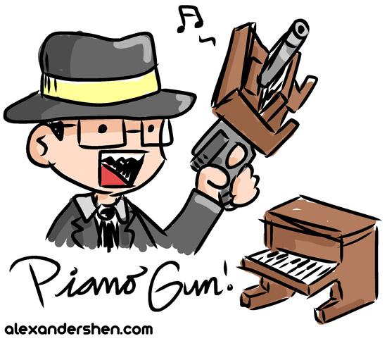L.A. LA Noire Piano Gun
