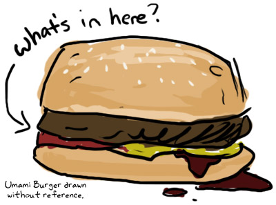 Umami Burger Drawing
