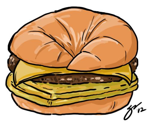 Croissant Sandwich Clipart