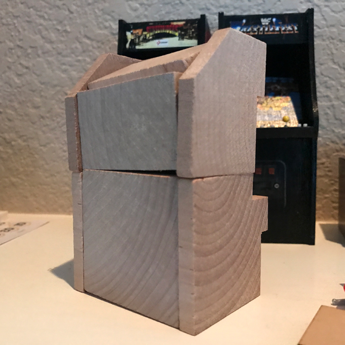 Scale Arcade Cabinet Version 1 - Back