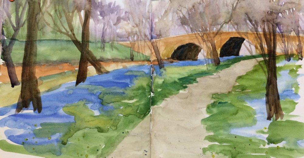 Bluebells at the Stone Bridge -MBNP-sketchbook.jpg