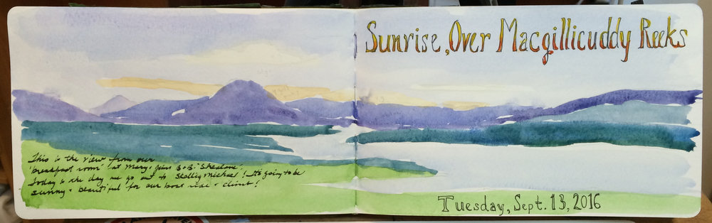 Ireland Sketchbook-Sunrise Over Macgilicuddy Reeks.jpg