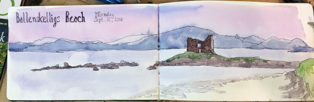 Irish Sketchbook-Ballenskelligs Beach & Ruins.jpg