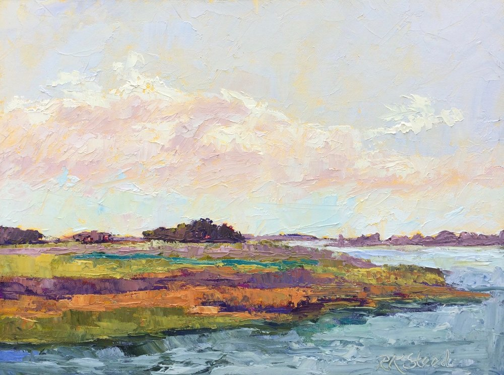 """""""Looking South"""" - oil on linen, plein air. 12""""x16"""" oil on linen/panel  Available from UGallery."""