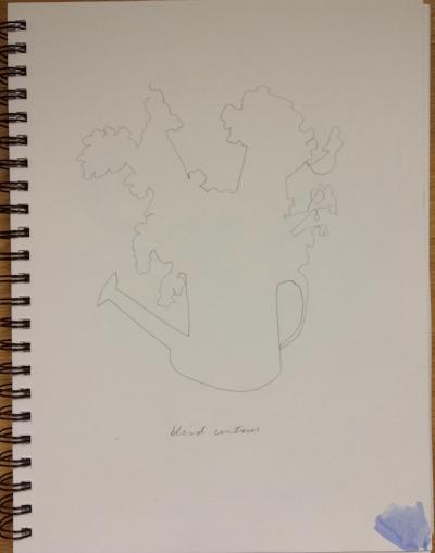 Blind contour drawing geraniums.jpg