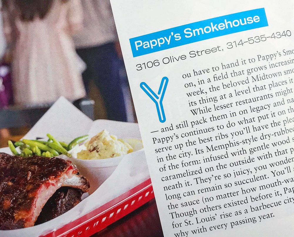 """Pappy's most current feature in The Riverfront Times """" Best of St. Louis """" edition."""
