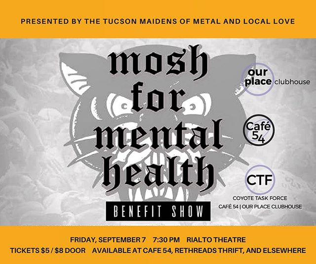 Tonight's the night! Come show your support and #mosh the night away for our programs at @therialtotucson! See our Facebook page for more details. #CTFTucson #downtowntucson #recoveryworks