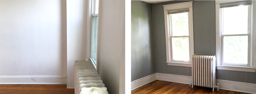Left: Existing view from Master Bedroom; Right: Nursery