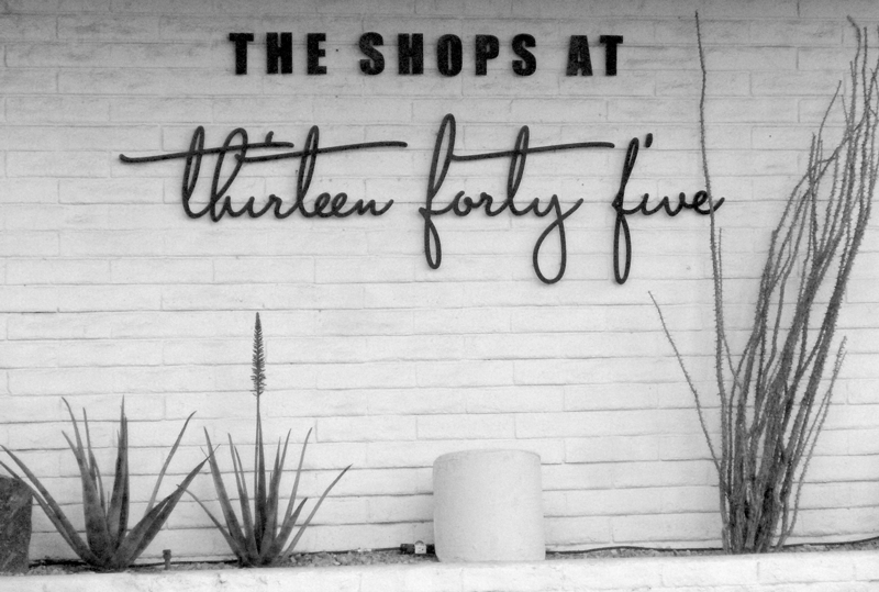 Logo inspiration: retail signage in Palm Springs, FL