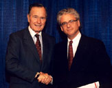 Jeff with George Bush