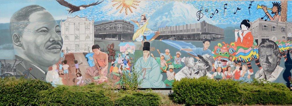 Mural en People's Park en Tacoma, WA