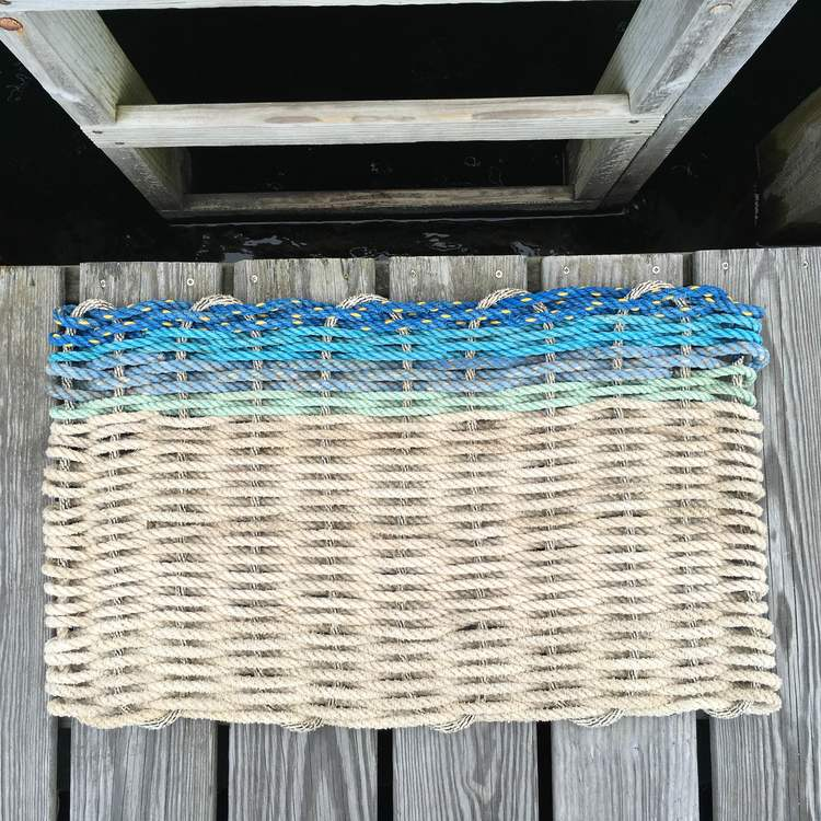 #2. Update your doorstep - with these beautiful and durable doormats made from recycled lobster rope. Handmade in Maine, the lobster epicenter.  http://capeporpoisetradingco.com/doormats/