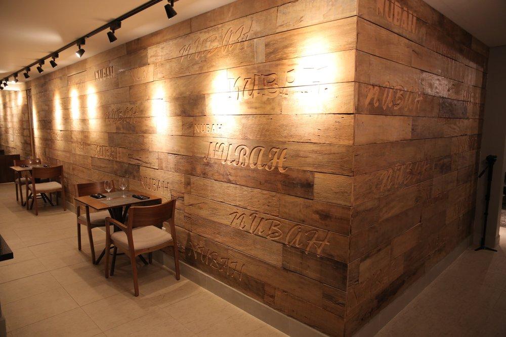 Reclaimed rustic barnwood wall