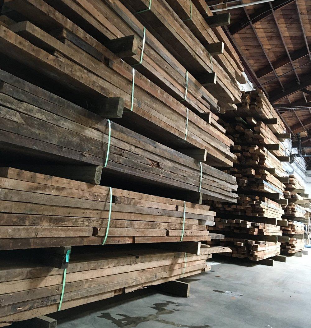 Reclaimed Lumber Timbers