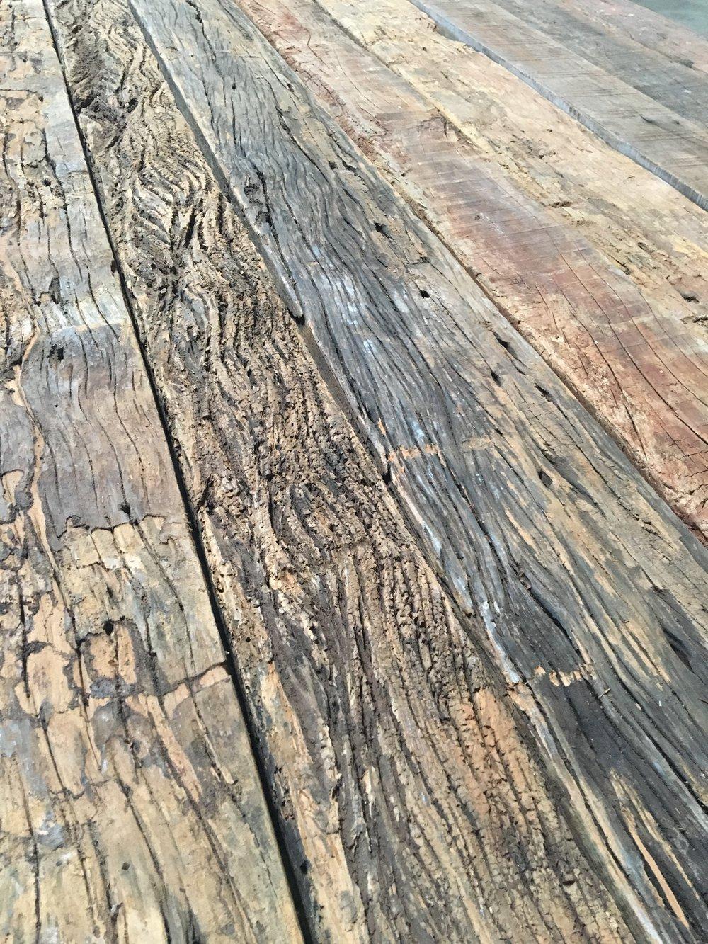 100+ year old reclaimed hardwood