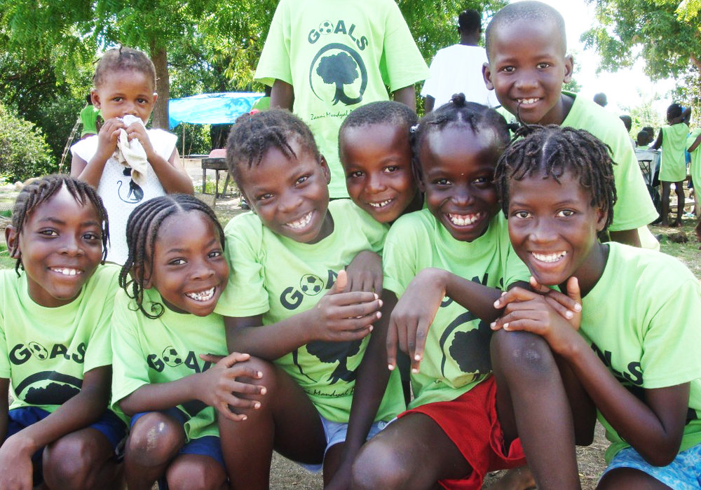Happy children of GOALS Haiti